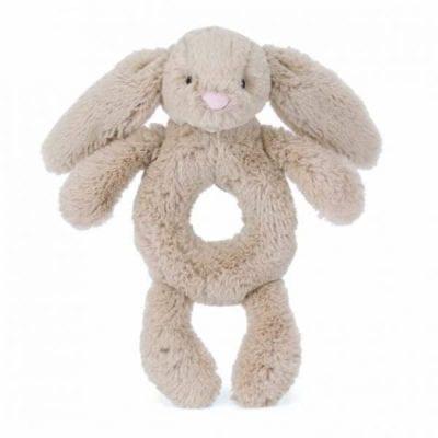 Beige Bunny Rattle