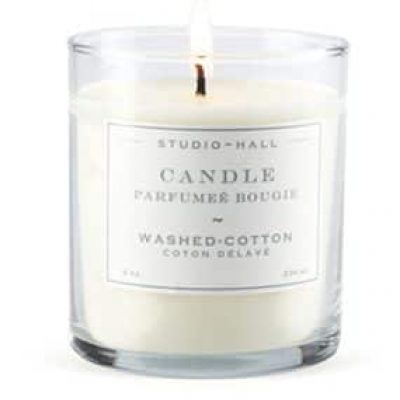 Washed Cotton Candle