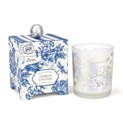 Indigo Cotton Candle-L
